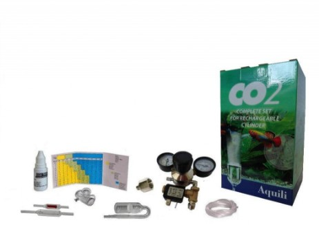 kit co2 complete set  plus aquili con elettrovalvola