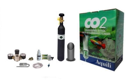 kit co2 aquili con bombola ricaricabile